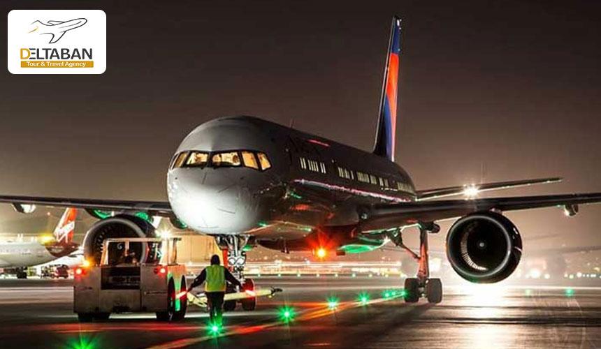 تصویری از هواپیما برروی باند فرودگاه