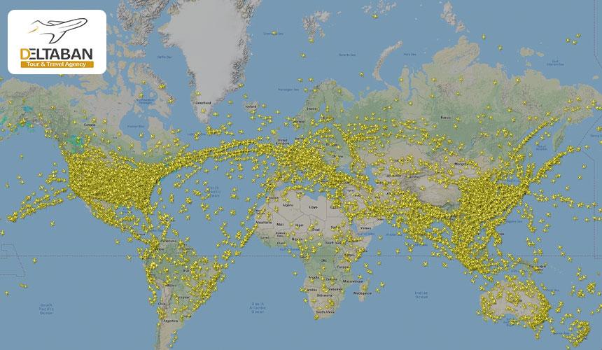 طولانی ترین مسیرهای پروازی