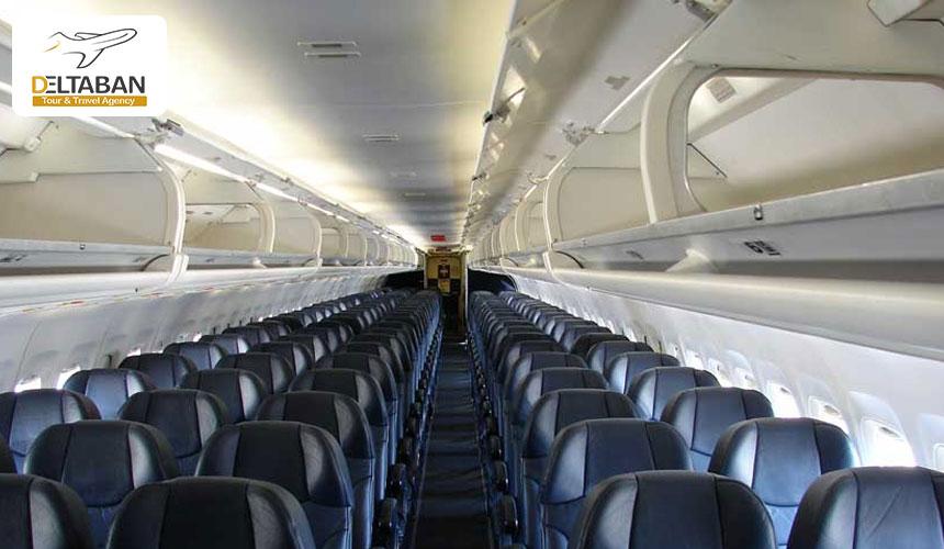 تصویری از داخل ام دی 80 از انواع هواپیماهای مسافربری