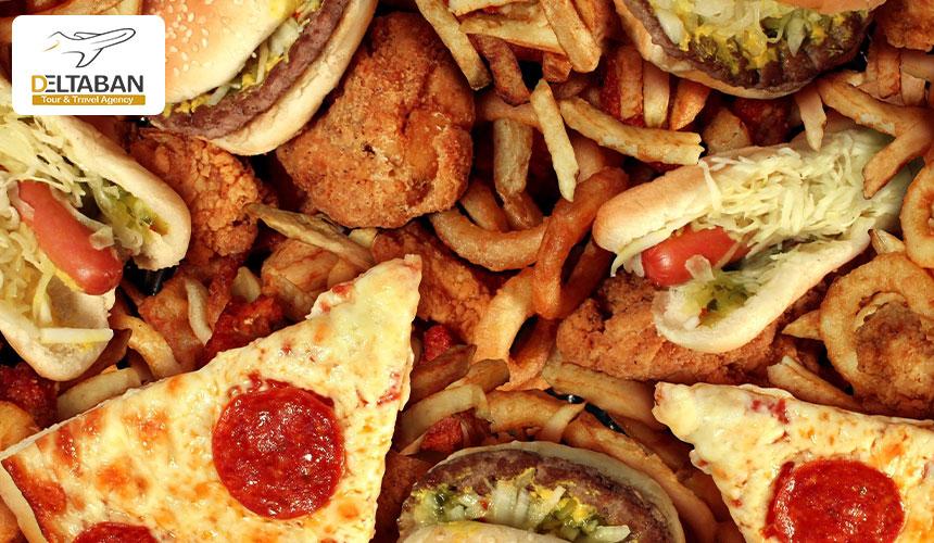 خوردن غذا قبل از پرواز