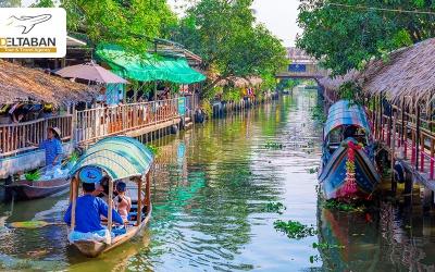 بازار شناور بانکوک شگفتی بزینس بر روی آب