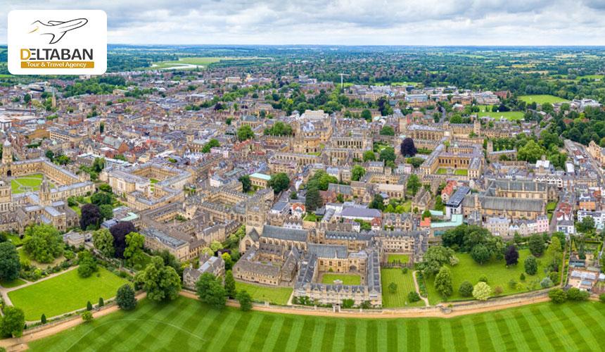 موقعیت جغرافیایی شهر آکسفورد