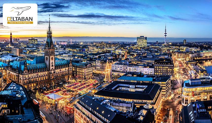 منظره ای بی نظیر از شهر هامبورگ