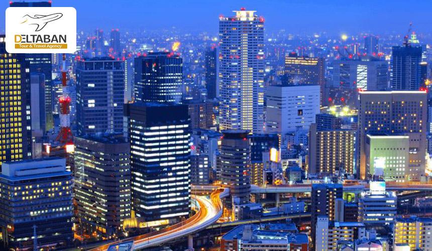 نمای شب از اوساکا