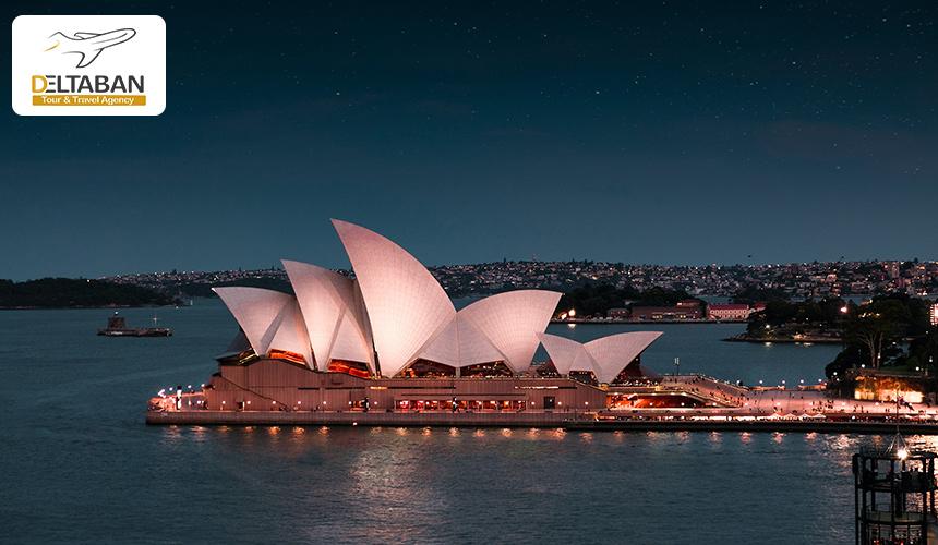 تصوری زیبا از تالار اپرای سیدنی