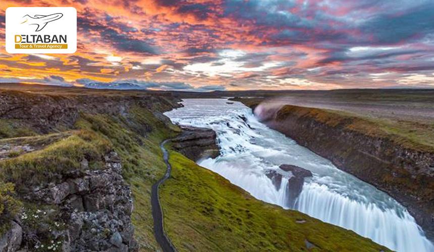 تصویری از آبشار گلفوس، ایسلند