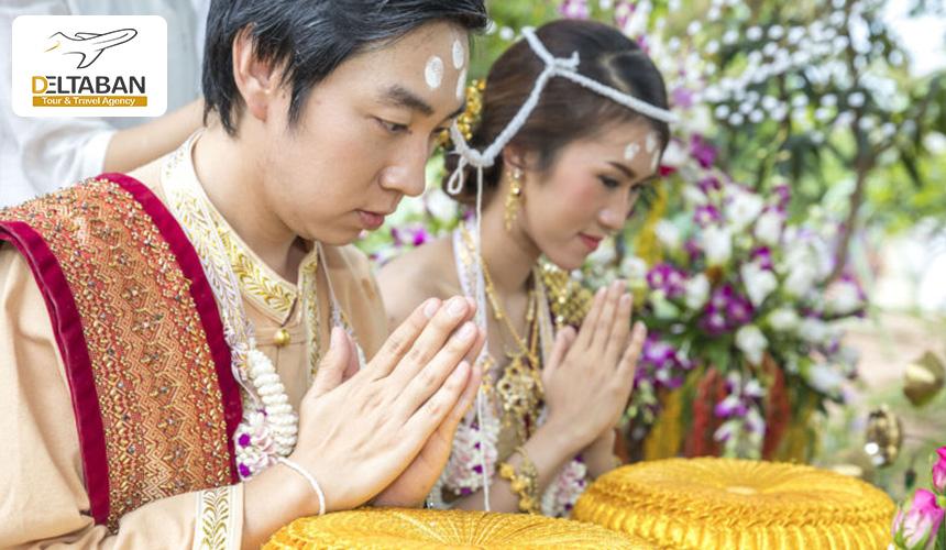تصویری از عروس داماد تایلندی