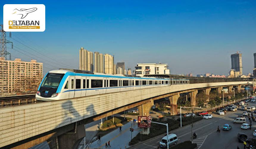 تصویری از پل متروی ووهان