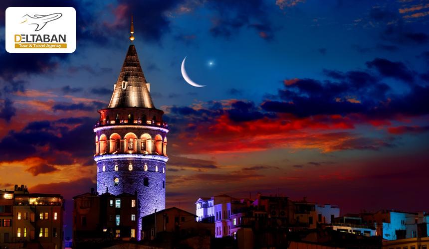 تصویری از برج گالاتا در استانبول