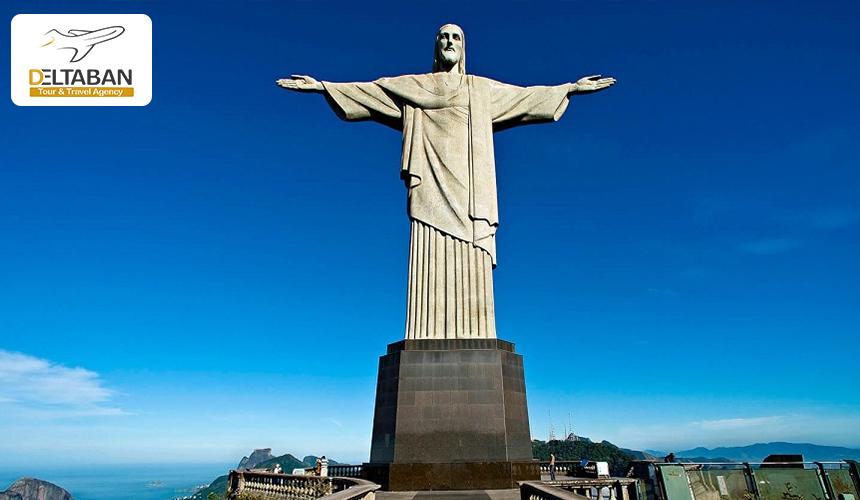نمایی از مجسمه حضرت عیسی در برزیل