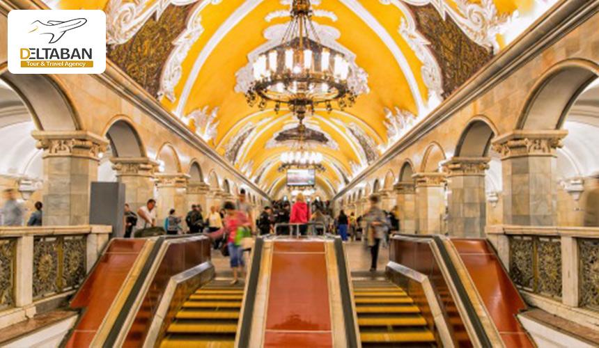 نمایی از مترو مسکو