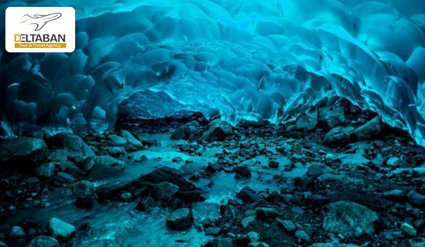 تصویری از غار یخی