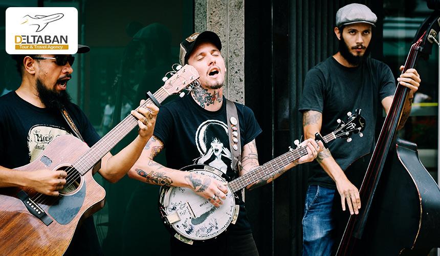 تصویری از کنسرت خیابانی