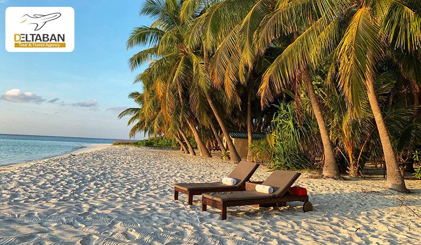 نمایی از ساحل در سفر به مالدیو