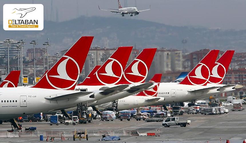 تصویری از هواپیما های پارک شده در یکی از فرودگاه های ترکیه