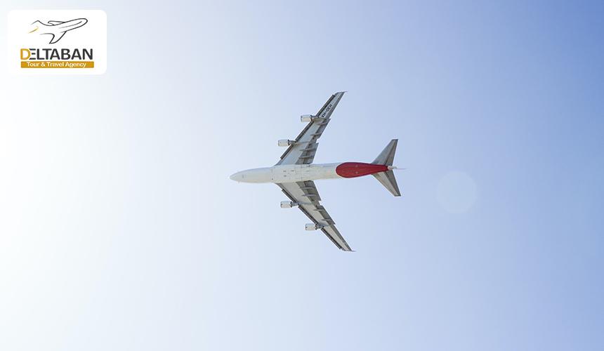 تصویری از هواپیما در حال پرواز