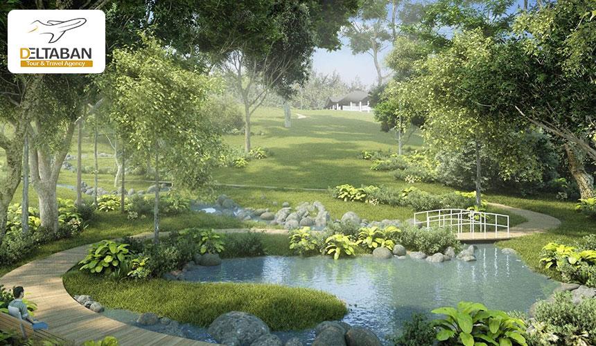 نمایی از باغ گیاه شناسی سنگاپور