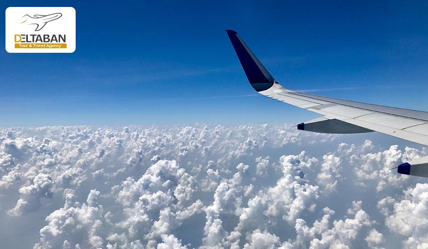 نمایی از بال هواپیما