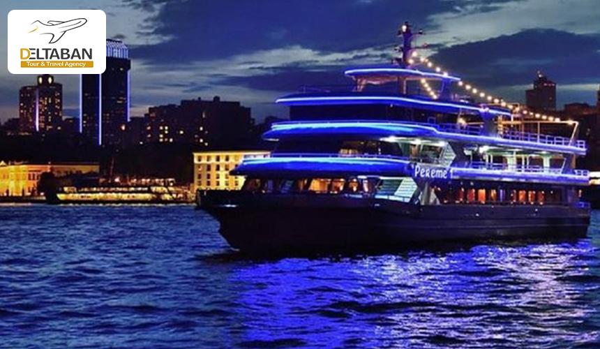 تصویر یک کشتی تفریحی در بوآز استانبول