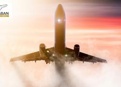 تصویری از هواپیمای در حال پرواز