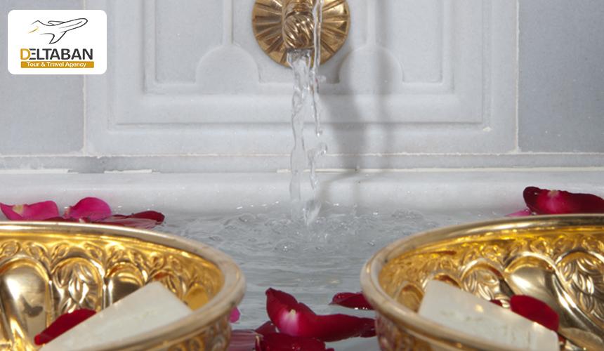 تصویری از آب ریز حمام خرم سلطان