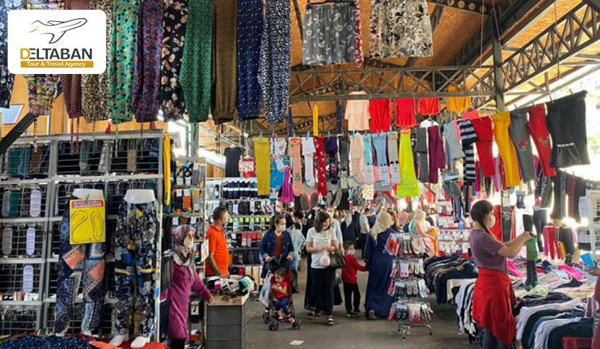 نمایی از بازار پوشاک استانبول