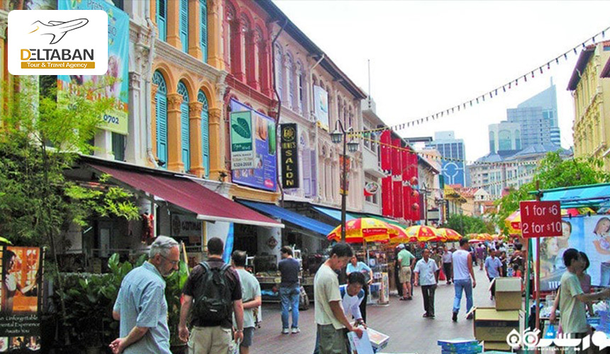 تصویری از یکی از بازار های سنگاپور