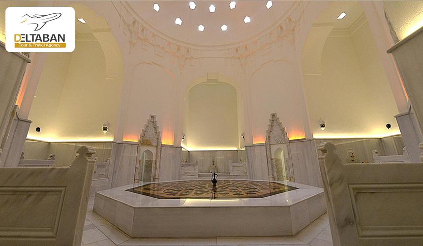 نمایی از داخل حمام خرم سلطان