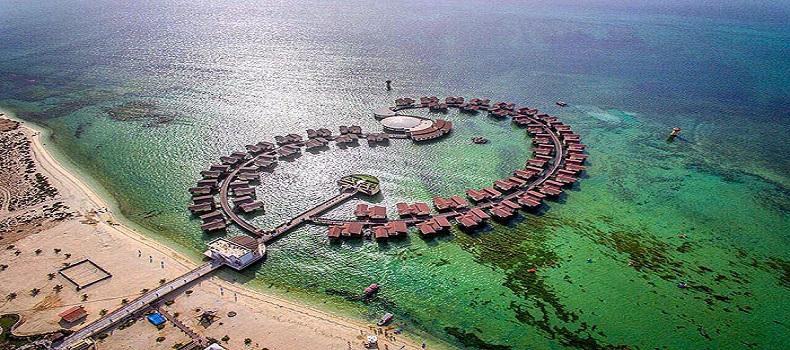 عکس هوایی از هتل ترنج کیش