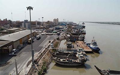 تصویری از بندر زیبای شهر آبادان