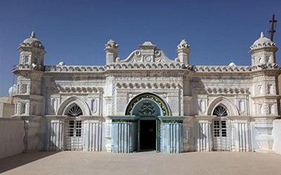 نمایی از مسجد تاریخی در آبادان