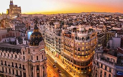 تصویری جالب از خیابان های کشور اسپانیا