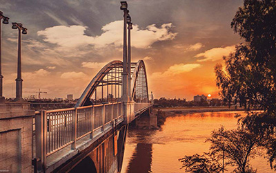 تصویری از پل زیبای اهواز