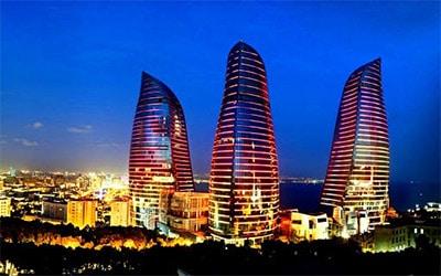 تصویر ساختمان های باکو
