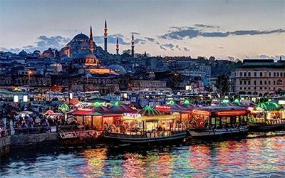 نمای ساحل استانبول در ترکیه