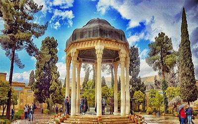 تصویری زیبا از آرامگاه حافظیه شیراز