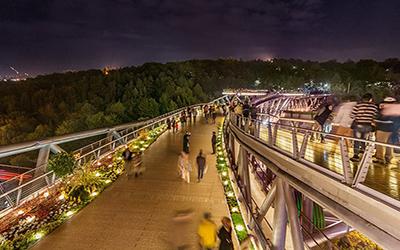 تصویری از پل طبیعت در تهران