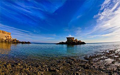 عکسی زیبا از نمای جزیره قشم