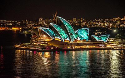 نمایی از خانه اپرا سیدنی