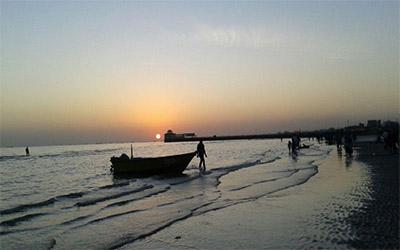 نمایی زیبا از ساحل بندرعباس