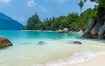 نمایی زیبا از ساحل پاتایا در کشور تایلند