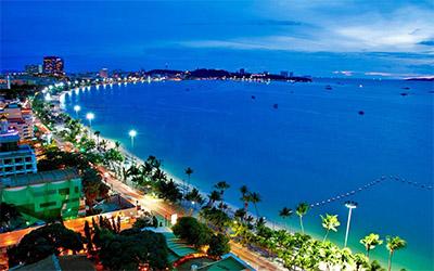 تصویری از نمای زیبا ساحل پاتایا