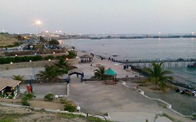 تصویر زیبا ساحل چابهار