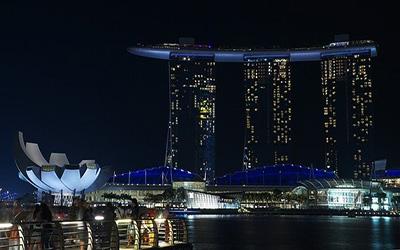 نمایی زیبا از شهر سنگاپور