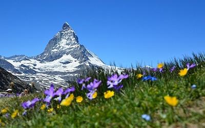 نمایی زیبا از کوهستان های سوئیس