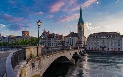 نمای از شهر سوئیس