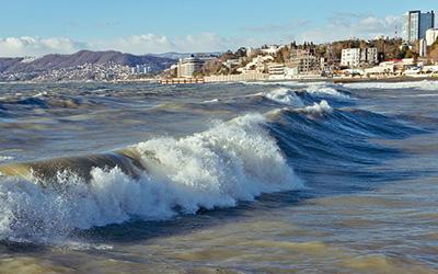 امواج زیبای سوچی