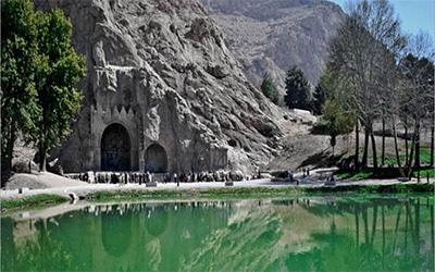تصویر طاق بستان در کرمانشاه