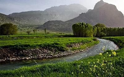 تصویر بخشی از طبیعت زیبای کرمانشاه