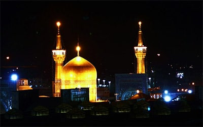 تصویری از نمای حرم امام رضا در مشهد